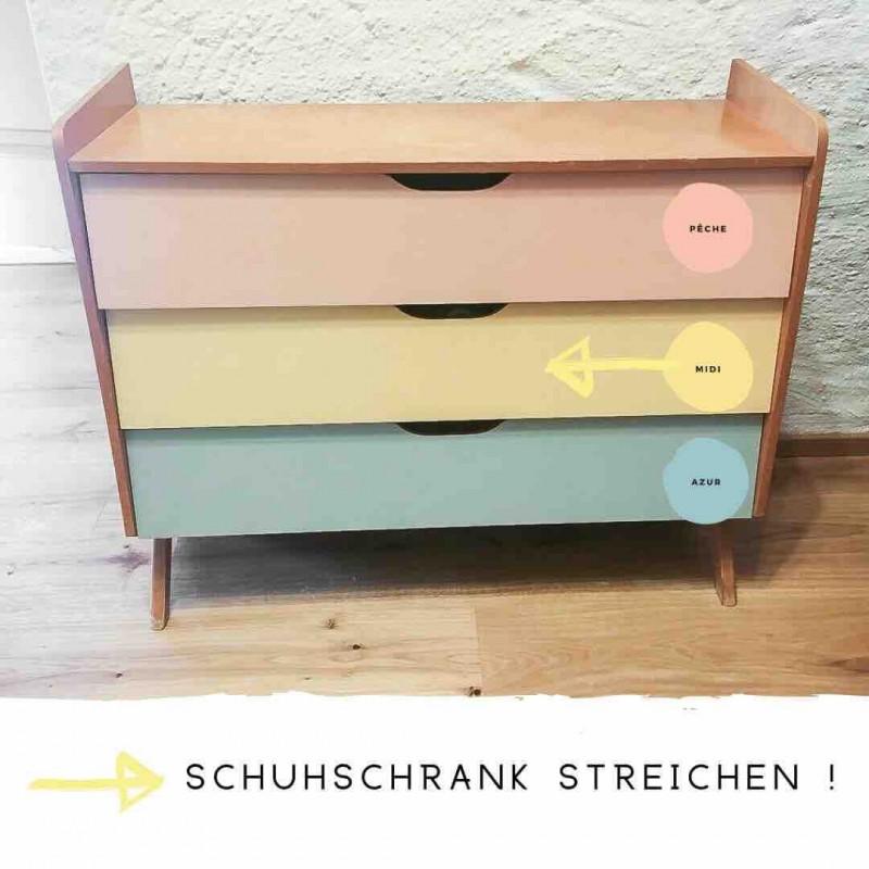 Schuhschrank mit Kreidefarbe streichen 5oer