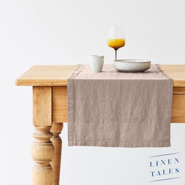 Leinen | Tischläufer | Taupe | Linentales