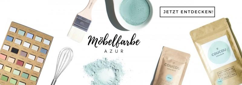 Kreidefarbe Möbelfarbe Coucou Couleur Türkis Öko