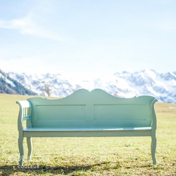 Gartenbank-streichen-Mint-Coucou-Couleur-Kreidefarbe