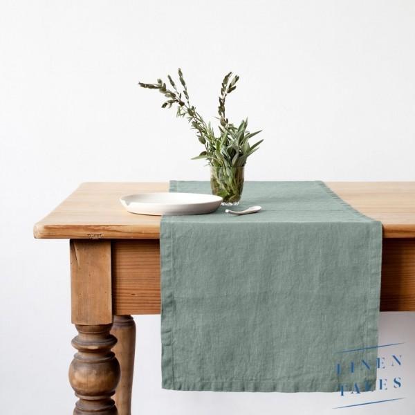 Leinen   Tischläufer   Grün   Linentales