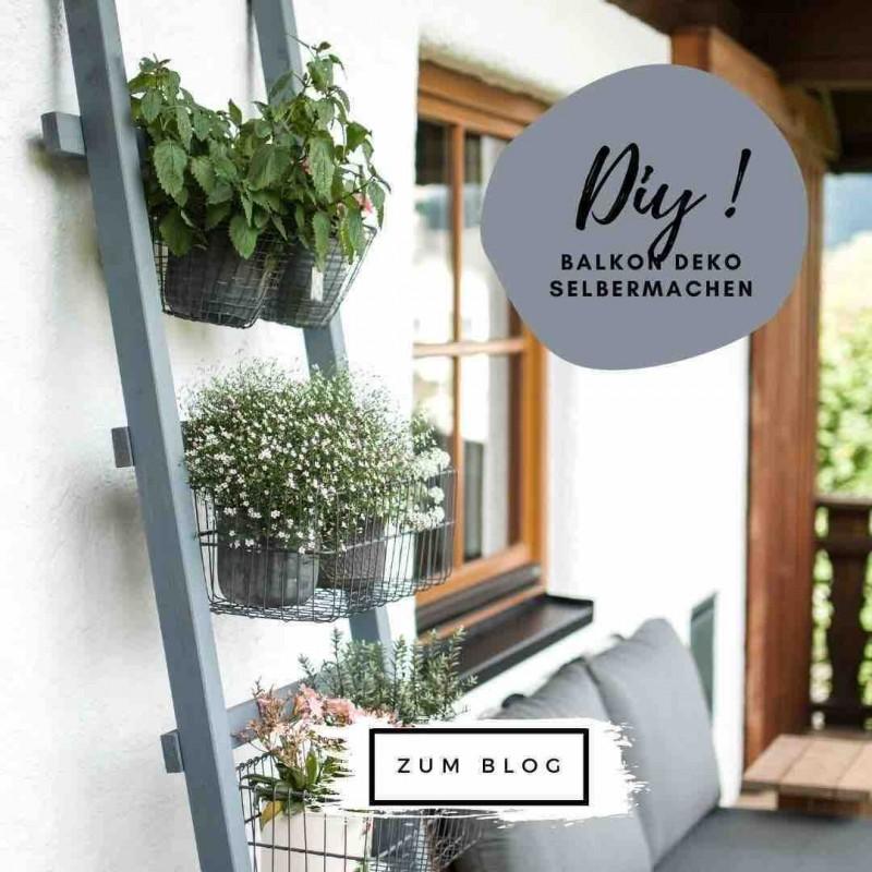 DIY Balkon mit Kreidefarbe