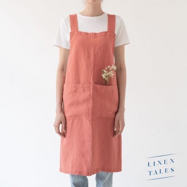 Leinenschürze | Frauen | Apricot | Linentales
